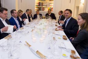 Dîner restreint offert par le Premier ministre, ministre d'État, Xavier Bettel en l'honneur du Premier ministre de la fédération de Russie, Dimitri Medvedev. ((Phot: SIP / Jean-Christophe Verhaegen))