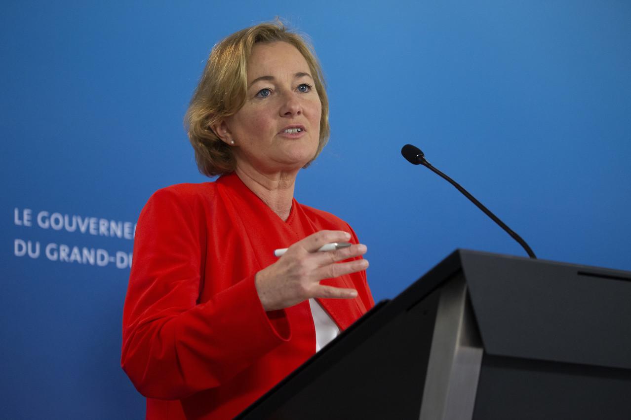 Paulette Lenert se montre rassurante sur la situation de la crise au Luxembourg. (Photo: SIP/Julien Warnand)