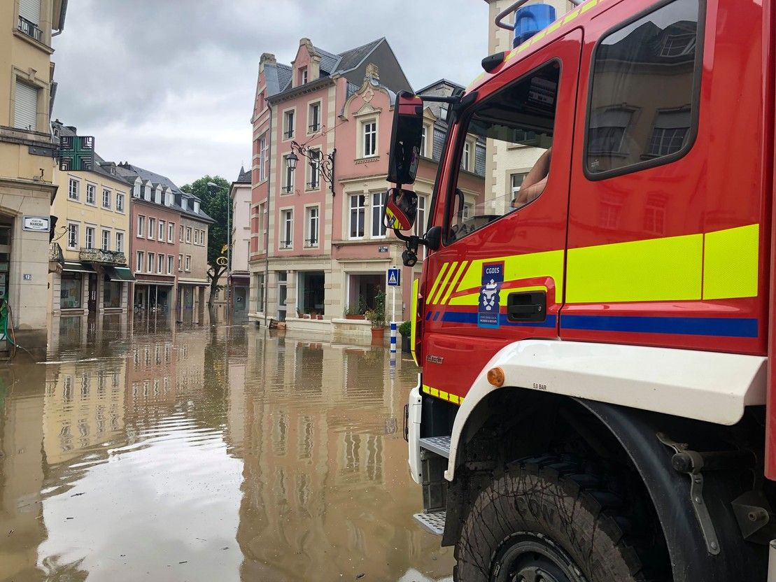 Library picture: Flooding in Echternach, 15 July 2021. CGDIS