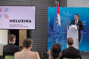 Discours du Premier ministre, Xavier Bettel. ((Photo: Matic Zorman / Maison Moderne))
