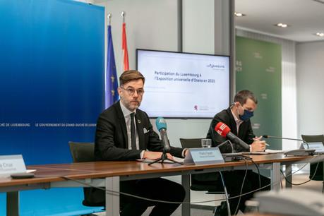 Le ministre de l'Économie Franz Fayot (LSAP) a annoncé ce mercredi 26 mai la participation du Luxembourg à l'Exposition universelle d'Osaka qui aura lieu en 2025. (Photo: Romain Gamba/Maison Moderne)