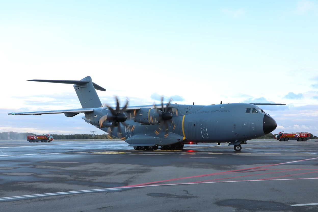 The A400M after its maiden flight Photo: Luxembourg Army