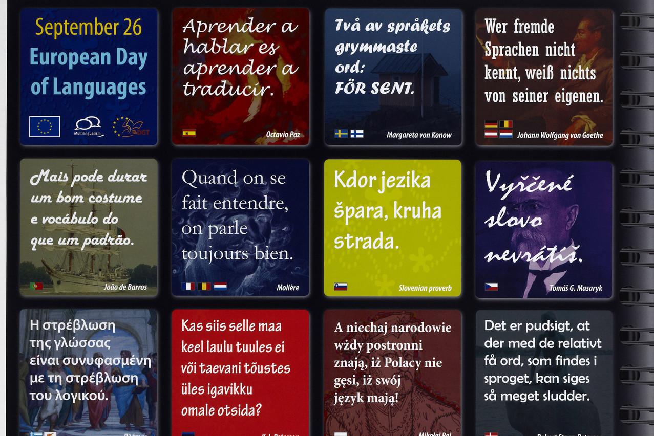 Affiche pour la Journée européenne des langues, le 26 septembre, collection Lëtzebuerg City Museum. (Photo: Christof Weber)