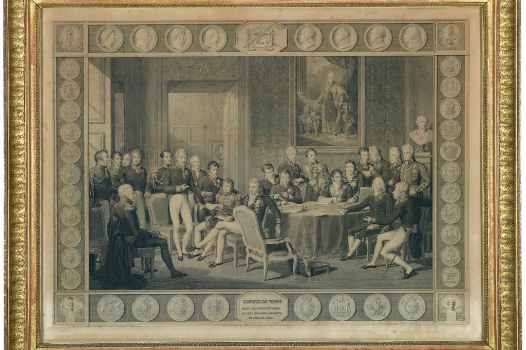 Jean-BaptisteIsabey (d'après), «Le congrès de Vienne» en 1815, gravure, collection Lëtzebuerg City Museum. (Photo: Lëtzebuerg City Museum)