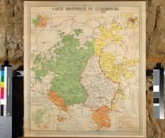 Carte historique du Luxembourg, vers 1930, collection Lëtzebuerg City Museum ((photo: Lëtzebuerg City Museum))