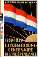 Affiche du centenaire de l'indépendance, 1939, collection Lëtzebuerg City Museum ((photo: Lëtzebuerg City Museum))