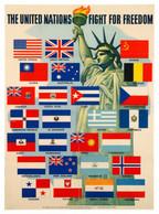 Le Luxembourg parmi les pays alliés en guerre contre l'Allemagne hitlérienne, affiche, vers 1942, collection Lëtzebuerg City Museum ((Photo: Lëtzebuerg City Museum))