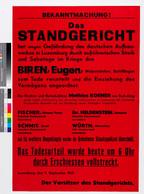 Affiche annonçant l'exécution des grévistes, 1942, collection Lëtzebuerg City Museum ((Photo: Lëtzebuerg City Museum))
