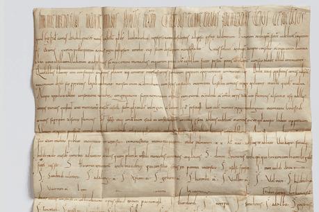 La charte d'échange de 963. Dépôt de la Ville de Trèves, Collection Lëtzebuerg City Museum. (Photo:Lëtzebuerg City Museum)