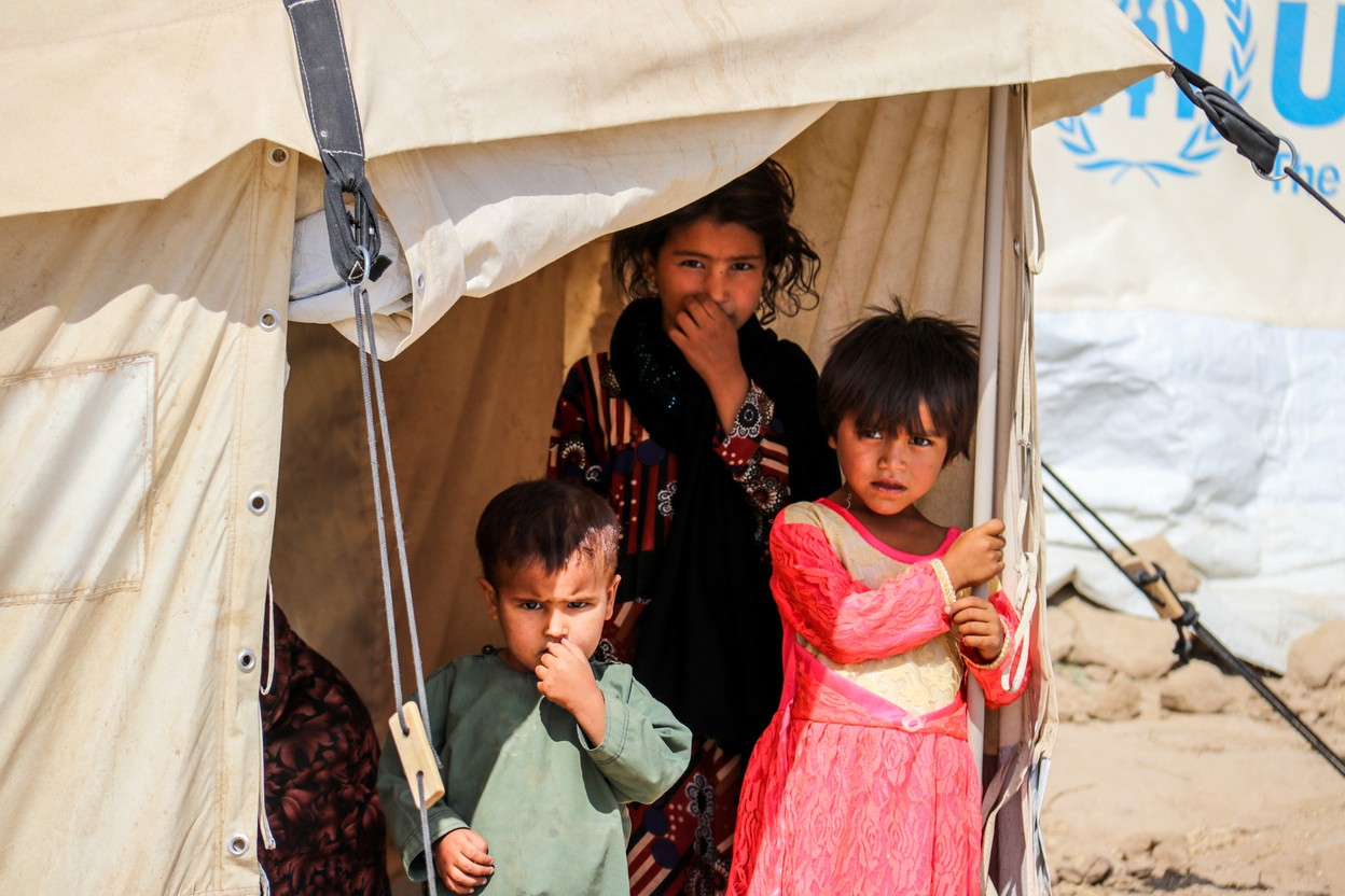 Children from Afghanistan pictured in a refugee camp Photo: Shutterstock