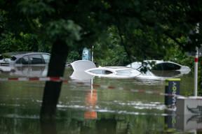 Place Dargent, la montée des eaux a été très impressionnante. ((Photo: Matic Zorman / Maison Moderne))