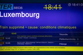 Le trafic ferroviaire est totalement à l'arrêt sur la ligne Luxembourg-Thionville. ((Photo: Matic Zorman / Maison Moderne))