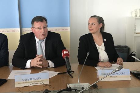 Bruno Renders et Carole Dieschbourg lors de la conférence de presse. (Photo: DR)