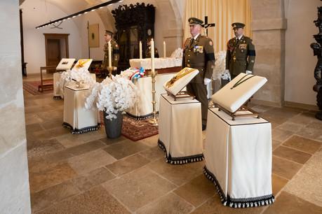 La dépouille mortelle du Grand-Duc Jean quittera la chapelle ardente au Palais Grand-Ducal aux alentours de 11 heures. (Photo: Claude Piscitelli / Cour grand-ducale)