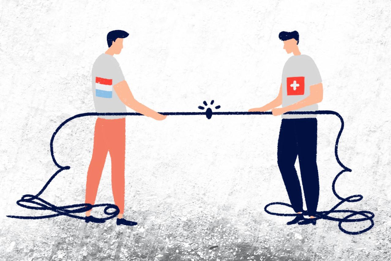 Si le Luxembourg s'est longtemps focalisé sur une clientèle européenne, en Suisse par contre, la clientèle est plus internationale. (Illustration: Ellen Withersov)