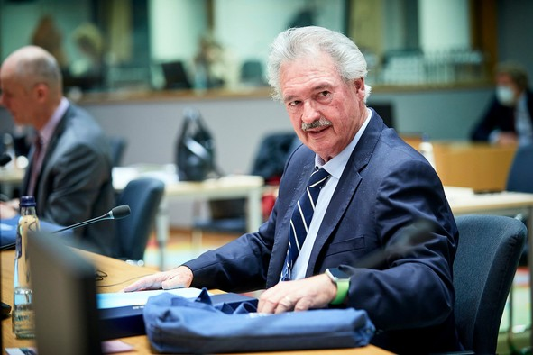 Luxembourg foreign minister Jean Asselborn during an EU meeting in February 2021 Photo: European Union