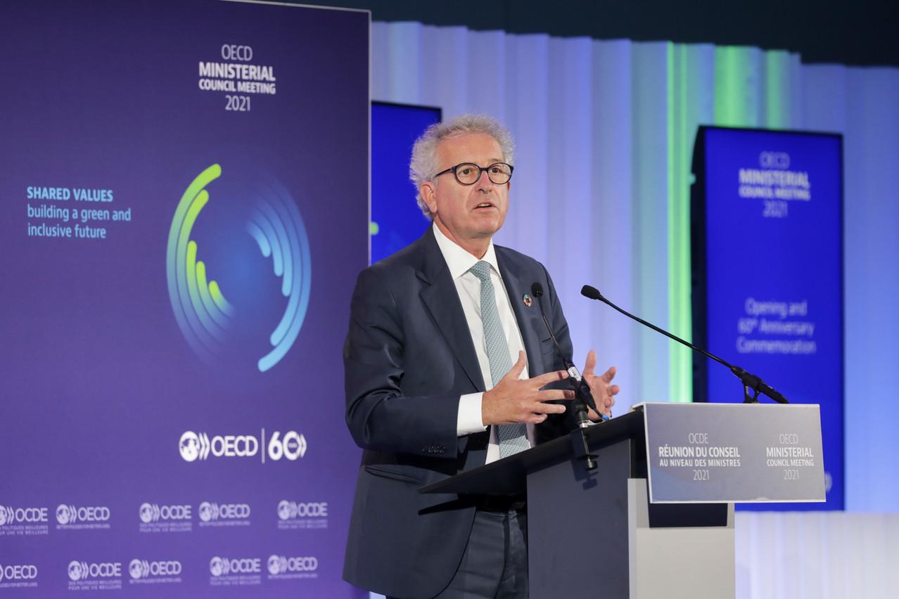 Finance minister  Pierre Gramegna  (DP) SIP/LUC DEFLORENNE