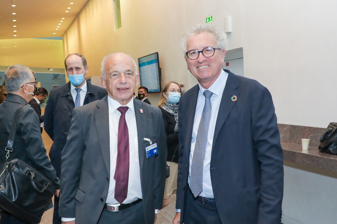 (from left to right) Maurer Ueli, Minister of Finance of the Swiss Confederation; Pierre Gramegna, Minister of Finance SIP/LUC DEFLORENNE
