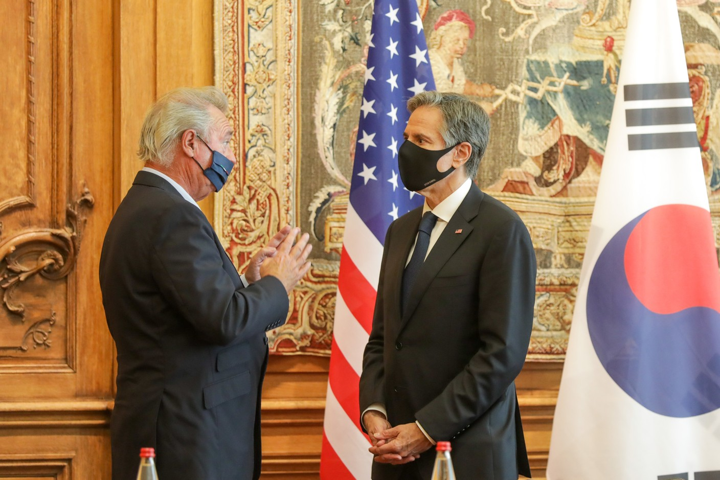 (from l. to r.) Jean Asselborn, Minister for Foreign and European Affairs; Antony Blinken, Secretary of State of the United States of America and Chair of the Council meeting at ministerial level SIP/LUC DEFLORENNE