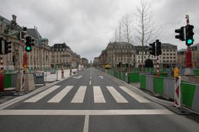 L'avenue de la Liberté est également vide. ((Photo: Matic Zorman))