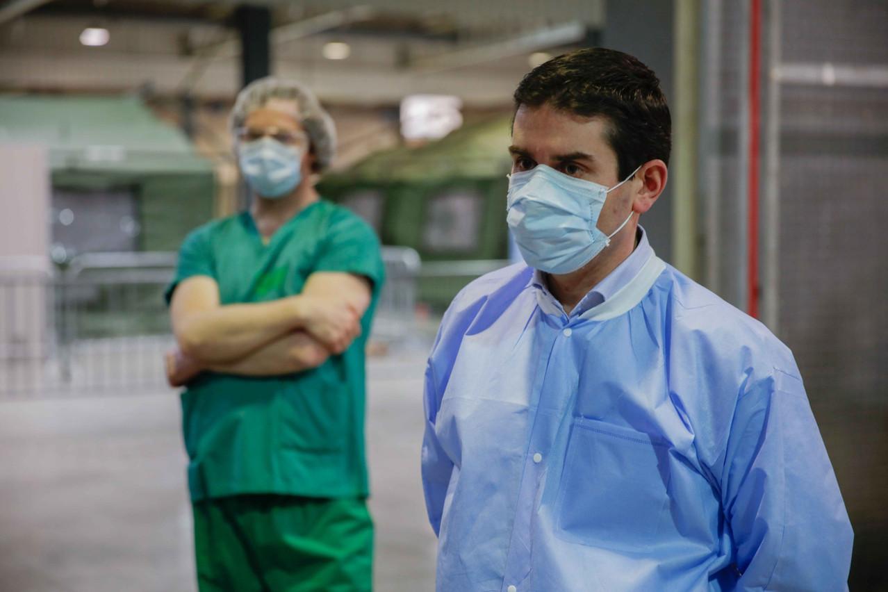 PierreHertz, médecin spécialiste des situations de catastrophe, est le coordinateur des quatre centres de soins avancés. (Photo: Romain Gamba)