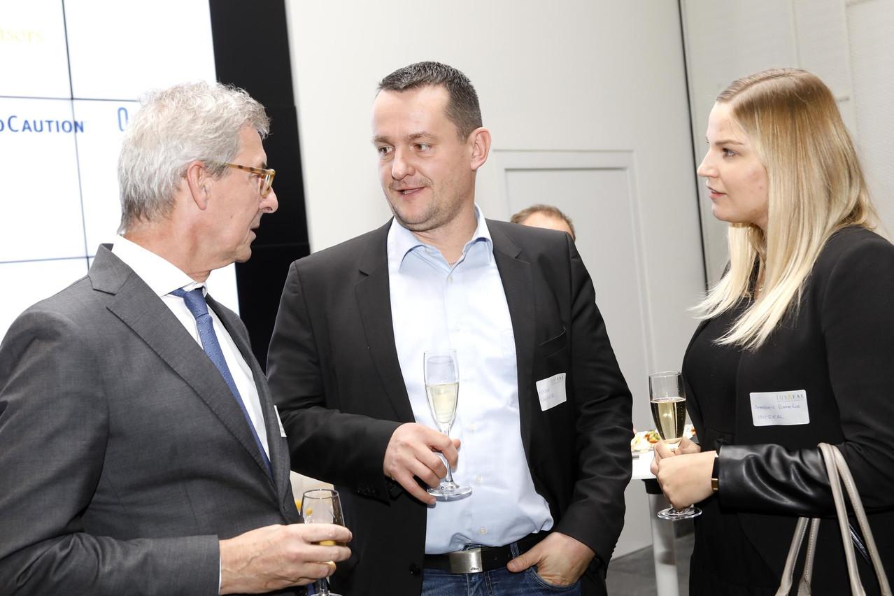 Christoph Kossmann (LuxReal), Ronny Wagner et Annabell Romeke (Intreal). (Photo: Olivier Minaire)