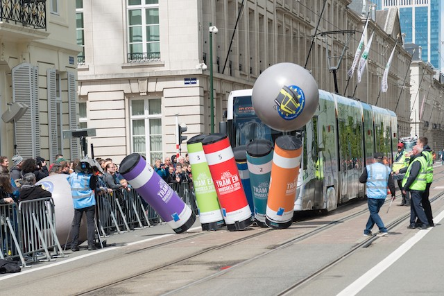 Les candidats ont notamment dû réaliser des freinages de précision. (Photo: Carlo Hentzen / Luxtram)