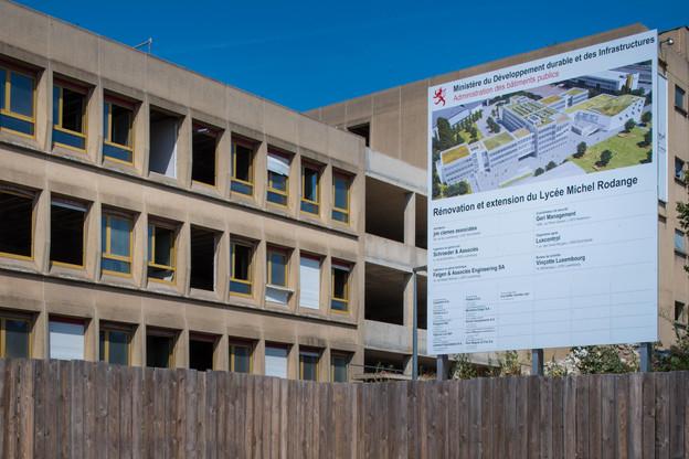 Le Lycée Michel Rodange est en pleins travaux. (Photo:Nader Ghavami)