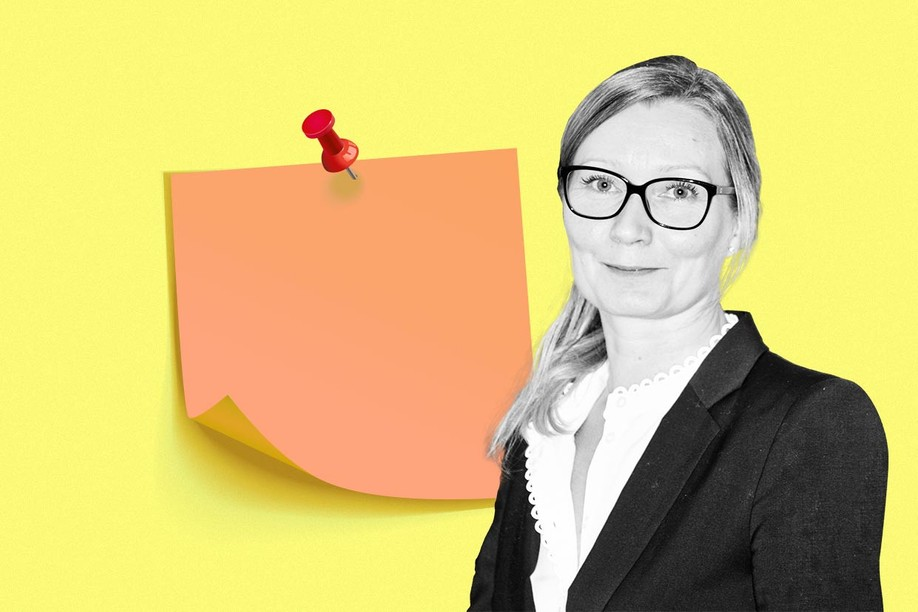 In a previous job, Maaret Davey's new team faced post-corporate merger redundancies. Her 'lesson learned' was not to separate her role as a manager from her 'whole self'. Image credit: ISL picture/Maison Moderne illustration