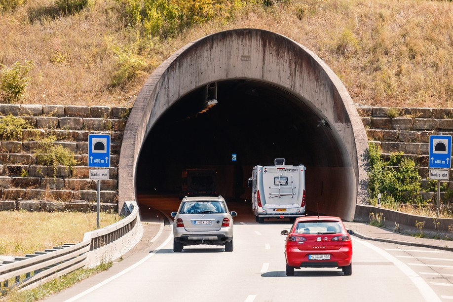 Motorway tunnels has began and will continue until the end of October Frantic00/Shutterstock.