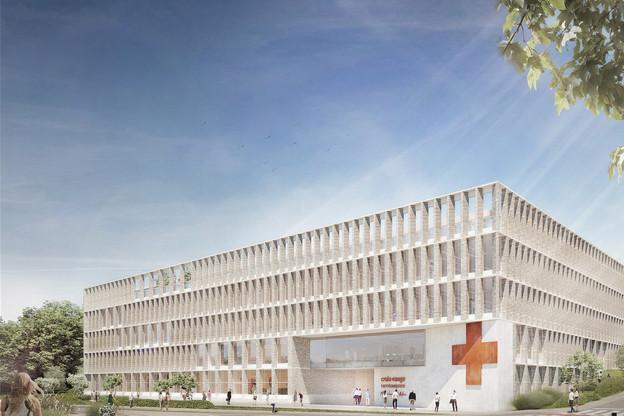 La «Maison de la Croix-Rouge» sera construite à Howald, rue des Scillas. (Visuel: IKO, A2618)