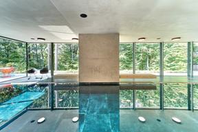 La piscine au sous-sol s'ouvre sur le jardin. ((Photo: Andrés Lejona))