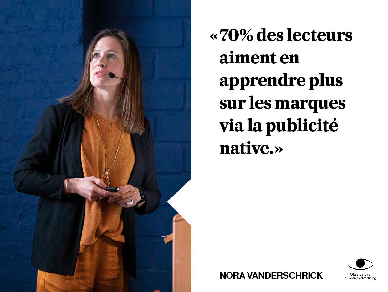 Nora figure depuis deux ans parmi les femmes les plus influentes dans le domaine de la publicité native. (Photo: Maison Moderne)