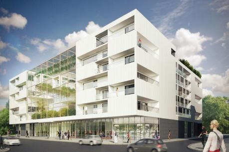 Cette nouvelle maison de soins et résidence seniors s'articule autour d'un jardin vertical. (Visuel: Assar Universum Architects)
