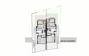 Plan du rez-de-chaussée ((Illustration : G+P Muller))