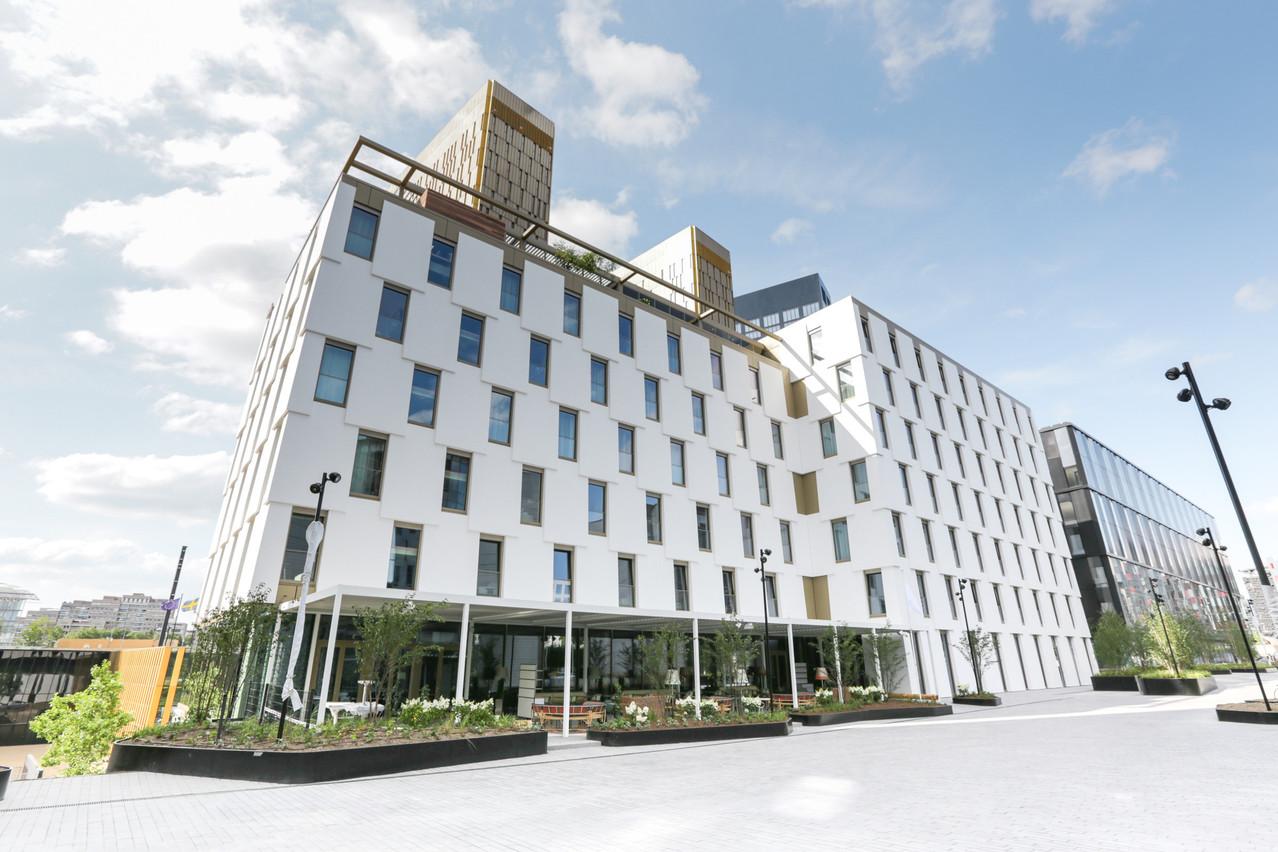 Le Mama Shelter Luxembourg a trouvé son adresse dans un nouveau bâtiment conçu par M3 Architectes. (Photo: Romain Gamba)