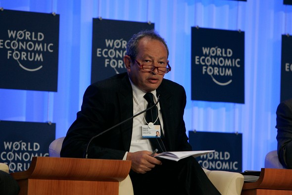 Three years ago, Egyptian telecom magnate Naguib Sawiris invested half his fortune in gold. Now, as head of La Mancha in Luxembourg, he wants to go further. (Photo: Nader Daoud / World Economic Forum)