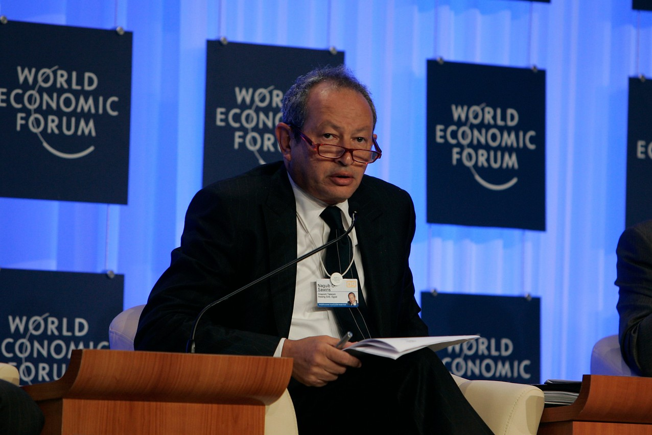 Il y a trois ans, le magnat des télécoms égyptien Naguib Sawiris a investi la moitié de sa fortune dans l'or. Aujourd'hui, à la tête de La Mancha au Luxembourg, il veut aller plus loin. (Photo: Nader Daoud / World Economic Forum)