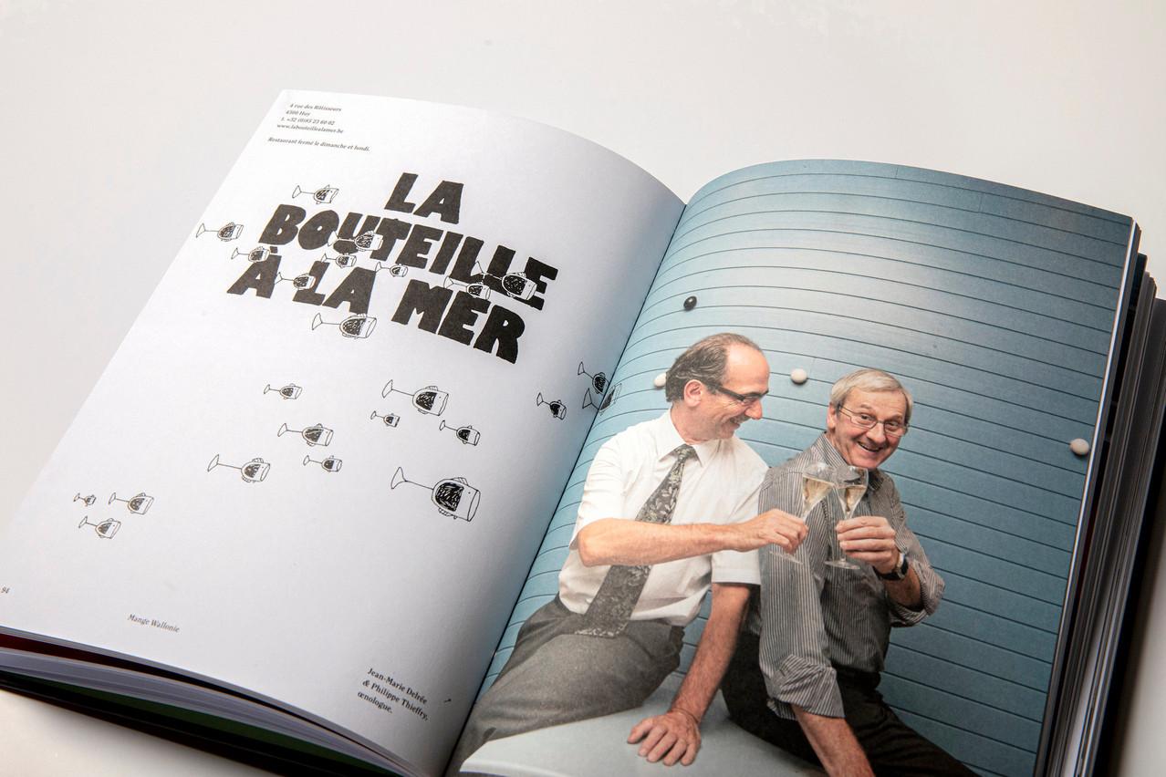 Un chouette design, des rencontres et de la gastronomie 100% wallonne: trio gagnant pour un bon bouquin à avoir dans sa bibliothèque… (Photo: Jan Hanrion / Maison Moderne)