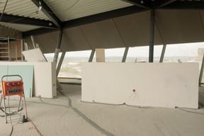 En juin dernier, les travaux d'aménagement étaient encore en cours dans la cellule de 700m2 dédiée au restaurant. ((Photo: Matic Zorman / Maison Moderne))