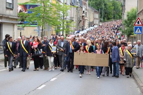 Le 11 mai prochain, les élus arlonais appellent une nouvelle fois leurs concitoyens à venir marcher pour la sauvegarde de l'hôpital du chef-lieu de la province de Luxembourg. (Photo: Ville d'Arlon)