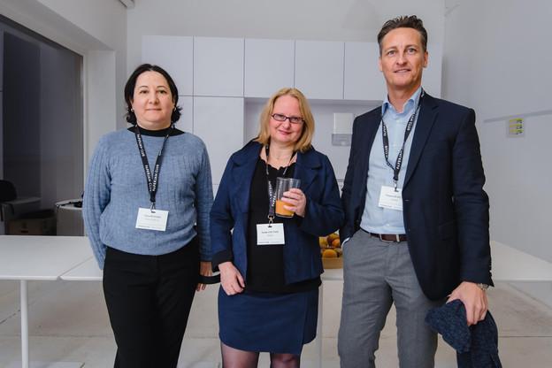 Fatma Benhara (Fiduciaire Belval), Anneke Van Tuijn et Vincent De Rycke (Fidupar) (Photo: Nader Ghavami)
