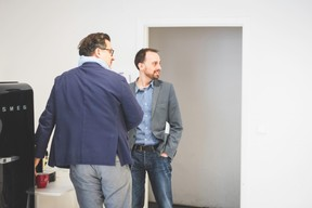 Igor Jelinski (Free Lens TV) et Claude May (Huxley Associates Luxembourg) ((Photo: Arthur Ranzy))