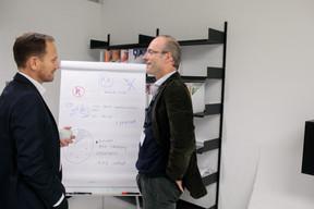 Stephane Compain (LuxRelo) et Francois Delvaux (Minds & More) ((Photo: Matic Zorman))