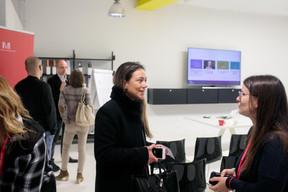 Sarah Odru (ABBL) et Emilie Bertoni (Maison Moderne) ((Photo: Matic Zorman))