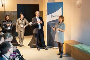 Virginie Menvielle, Alexia Da Costa, Gérard Sinnes et Antonella Gasparro (Vistim) ((Photo: Patricia Pitsch/Maison Moderne))