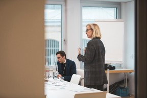 Karim Kallout et Sonia Rucquoy (Alcor Executive) ((Photo: Patricia Pitsch/Maison Moderne))