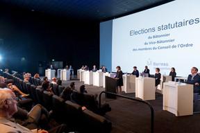 Covid oblige, c'est dans une salle clairsemée qu'a eu lieu l'assemblée générale dédiée à l'élection du Conseil de l'Ordre et aussi à l'adoption du budget et des cotisations des avocats. ((Photo: Marie De Decker))