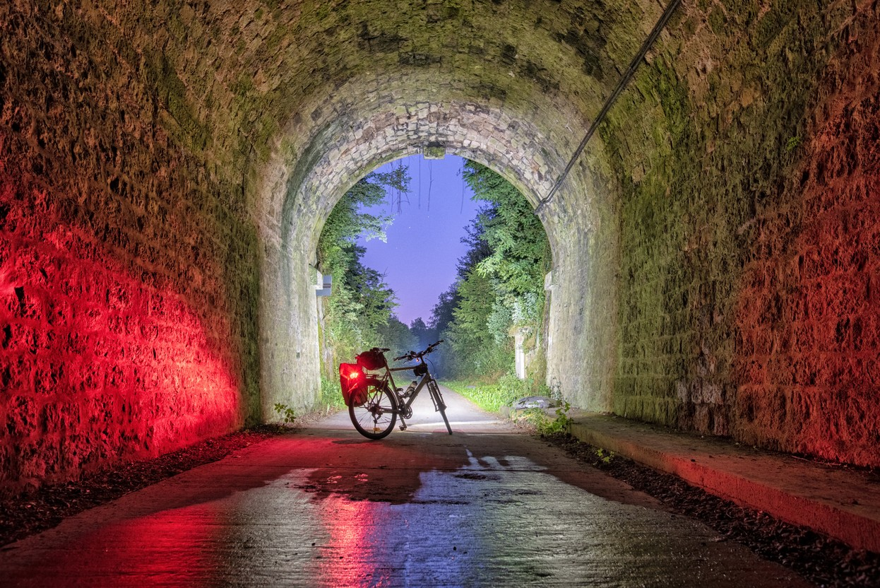 After the village of Eischen, you'll cross the longest cycling tunnel in the country which won't keep you indifferent, says Schmurr Tristan Schmurr