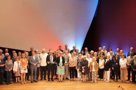 SamTanson, ministre de la Culture, a remis les distinctions honorifiques à l'occasion de la Fête nationale2021 (sous le régime CovidCheck). (Photo: Ministère de la culture)